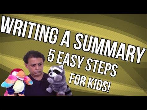Writing a summary for an essay